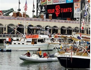 "Bay Charter Boats ""Mccovey Cove & SF Giants Game"" 6 People $700 Gift Certificate"