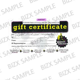 BizX Planet Fitness 1 Year Black Card Membership