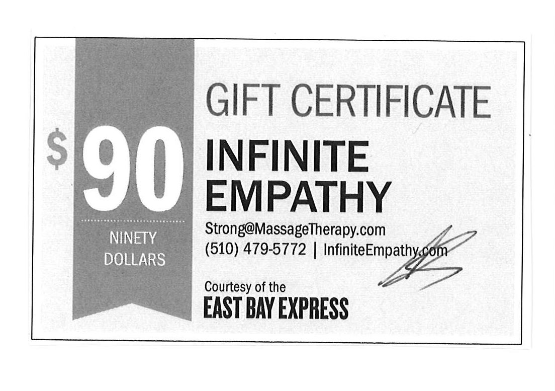 Infinite Empathy Massage $90 Gift Certificate