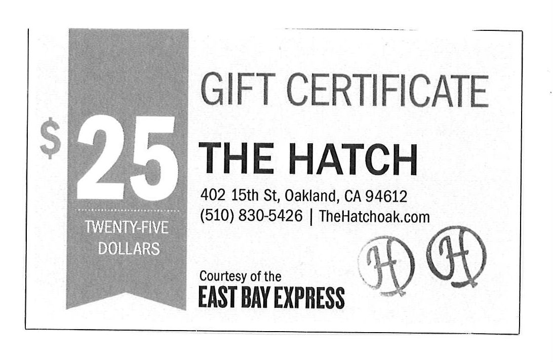 The Hatch $25 Gift Certificate