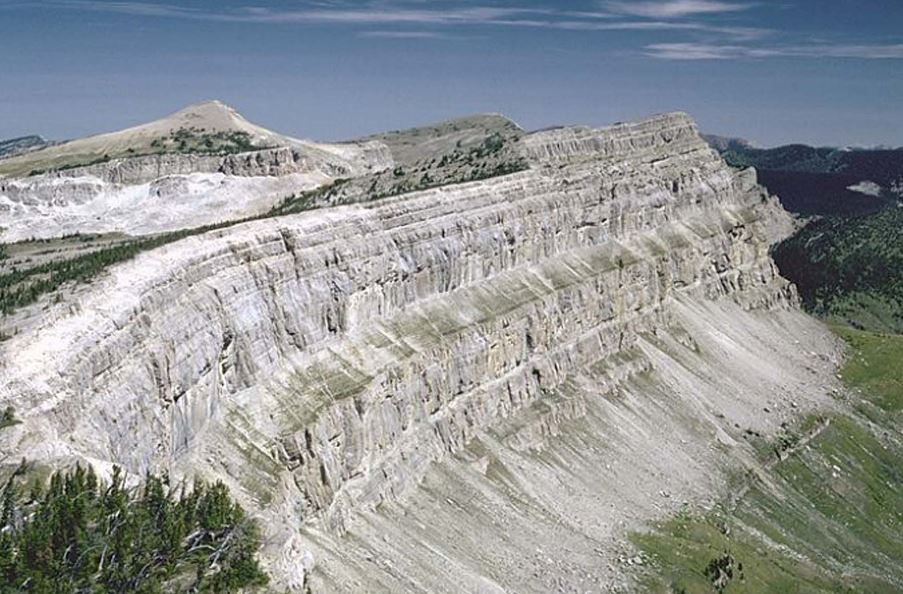 Famous Chinese Wall in the Bob Marshall Wilderness, Montana