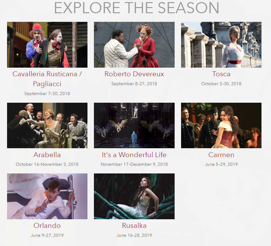 San Francisco Opera Tickets 2018/2019