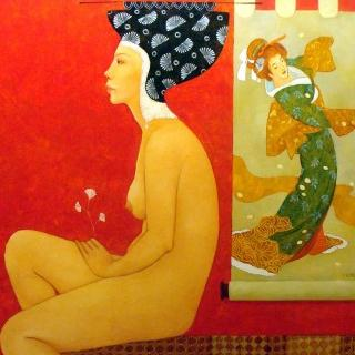 Original painting by Georgian artist Irma Kusiani