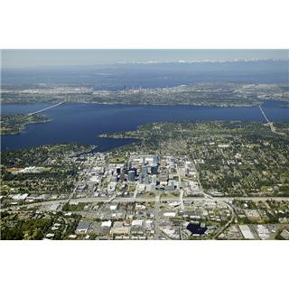 Aerial of Bellevue Skyline. One of over 41,000 aerials available online at http://www.aerolistphoto.com