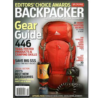 Backpacker Magazine Three Year Subscription