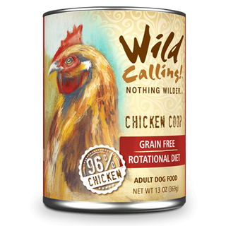 Wild Calling Adult Canned Dog Food in Chicken Coop Flavor