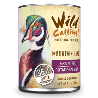 Wild Calling Adult Canned Dog Food in Mountain Lake  Flavor