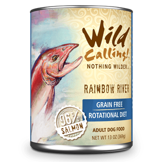 Wild Calling Adult Canned Dog Food in Rainbow River Flavor