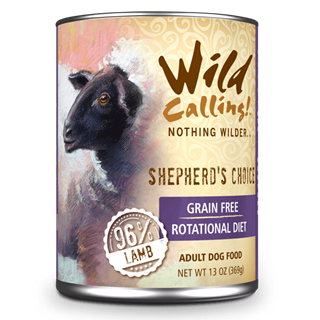 Wild Calling Adult Canned Dog Food in Shepheard's Choice Flavor
