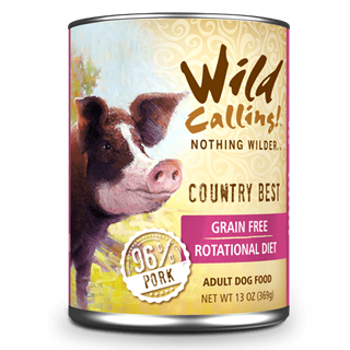 Wild Calling Adult Canned Dog Food in Country's Best Flavor