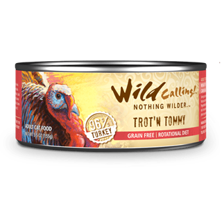 Wild Calling Adult Canned Cat Food in Trot 'N Tommy Flavor