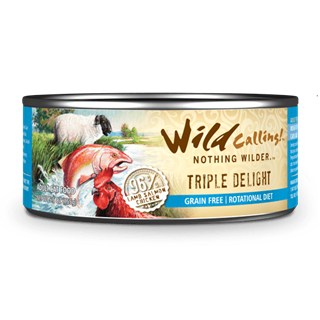 Wild Calling Adult Canned Cat Food in Triple Delight Flavor