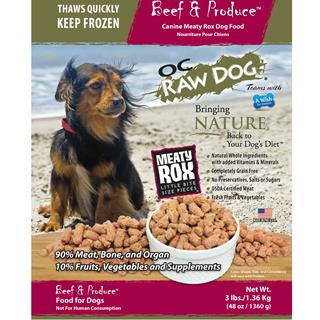 OC RAW K9 Beef and Produce meaty Rox 3lb Bag Dog Food