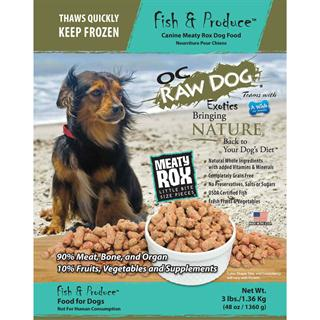 OC RAW K9 Fish and Produce Meaty Rox 3lb Bag Dog Food