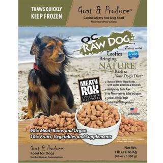 OC RAW K9 Goat and Produce Meaty Rox 3lb Bag Dog Food