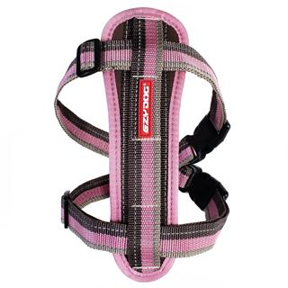 EZYDOG - Medium Chest Plate Harness in Pink & Brown