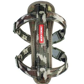 EZYDOG - Large Chest Plate Harness in Green Camo