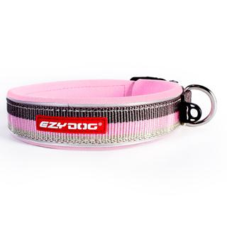 EZYDOG - Medium Neo Dog Collar, Pink & Brown