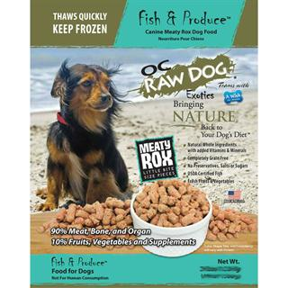 OC RAW K9 Fish and Produce Meaty Rox - 7lb Bag of Dog Food