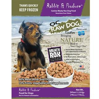 OC RAW K9 Rabbit and Produce Meaty Rox - 7lb Bag of Dog Food