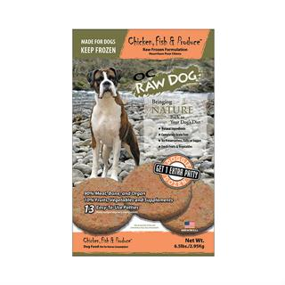 OC RAW K9 Chicken, Fish and Produce for Dogs - 6.5lb Bag of Patties
