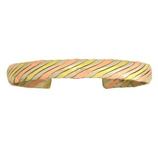 Twist Tricolor Dome Bracelet - Extra Small