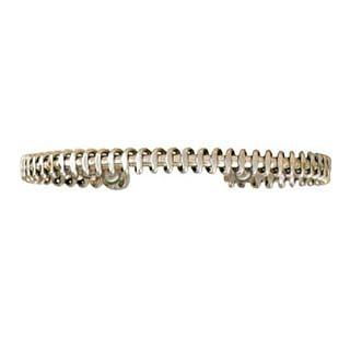 Magnetic Silver Coil Bracelet - Small