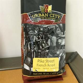 16oz Bag of Pike Street French Roast Blend (Whole Bean)