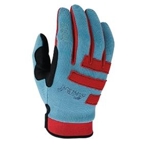 POW Men's High 5 Bike Gloves - RED/BLUE/BLK - Medium