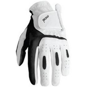 POW Men's Noonan Golf Gloves - WHT/BLK - Large