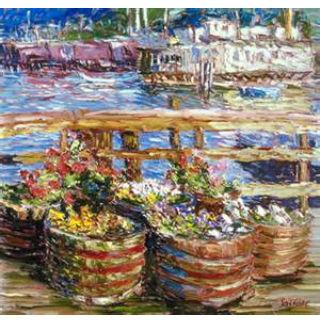 'Sausalito Houseboat Flowers' by Marco Sassone
