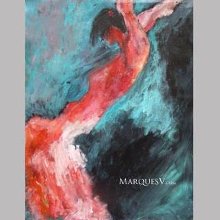 """Fire!"" Original Dancer Painting by Marques Vickers"