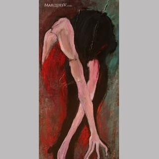 """Dante's Inferno"" Original Dancer Painting by Marques Vickers"