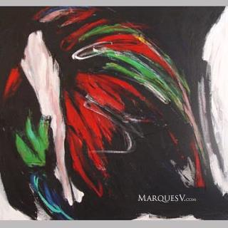 """Road of Departure"" Original Dancer Painting by Marques Vickers"