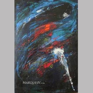 """Sequence of Steps"" Original Figurative Dancer Painting by Marques Vickers"