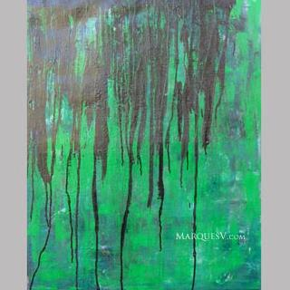 """Foret Noir"" Original Abstractive Nature Painting"