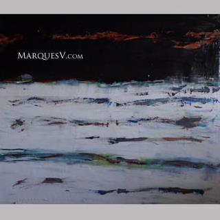 """Winter Fields"" Original Abstractive Nature Painting by M Vickers"