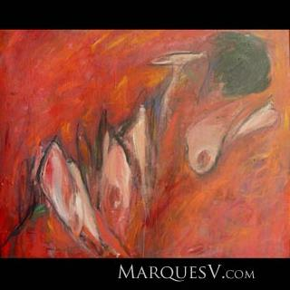 """Non Conforming Nude"" Original Figurative Painting by Marques Vickers"