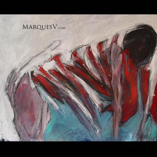 """Swoop"" Original Figurative Dancer Painting/Marques Vickers"