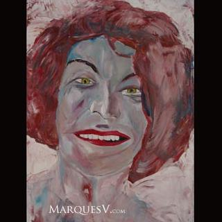 "French Village Series: ""Seductress"" Original Facial Painting/Marques Vickers"