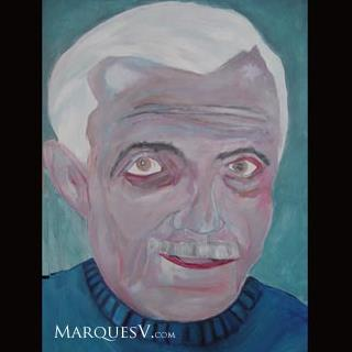 "French Village Series: ""Wanderer"" Original Facial Painting/Marques Vickers"