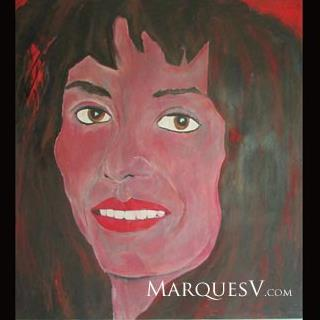 "French Village Series: ""Beautiful Brunette"" Original Facial Painting"