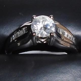 .75 Total Cts of Diamonds in 4.1 Grams of 14K White Gold