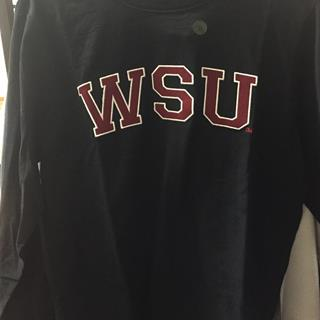 WSU Black Long Sleeve Tee, Size Small