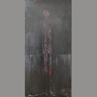 """Amidst the Hush of the Darkest Night"" Original Figurative Painting by Vickers"