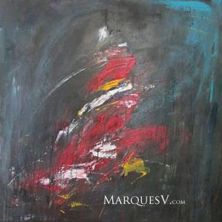 """An Articulation of Desire"" Original Figurative Dancer Painting/Marques Vickers"