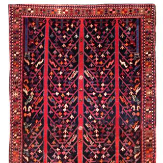 Antique 5x10 Persian Handmade Bidjar 70% off