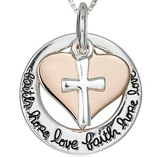 Faith Love Hope Stamped Necklace