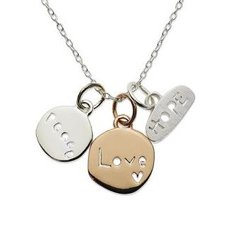 Love Peace Hope Stamped Necklace