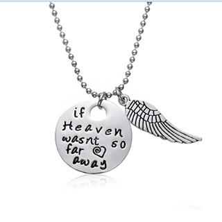 If Heaven Weren't So Far Stamped Necklace
